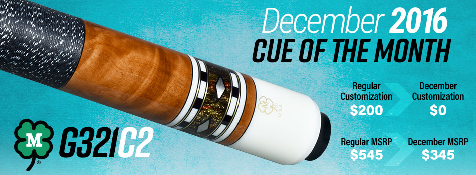December 2016 Cue of the Month