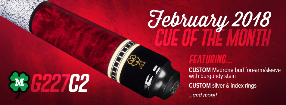 February 2018 Cue of the Month